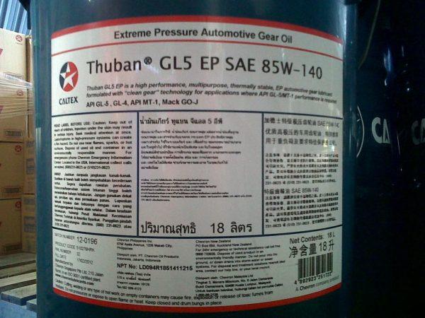 HPP Caltex Lubricants, Thuban 85w140